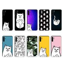 Ripndip Kat Fashion Case Voor Huawei P20 P30 P40 Pro Mate 10 20 30 Pro Lite P Smart Y7 2019 plus Nova 3I Gevallen Cover(China)