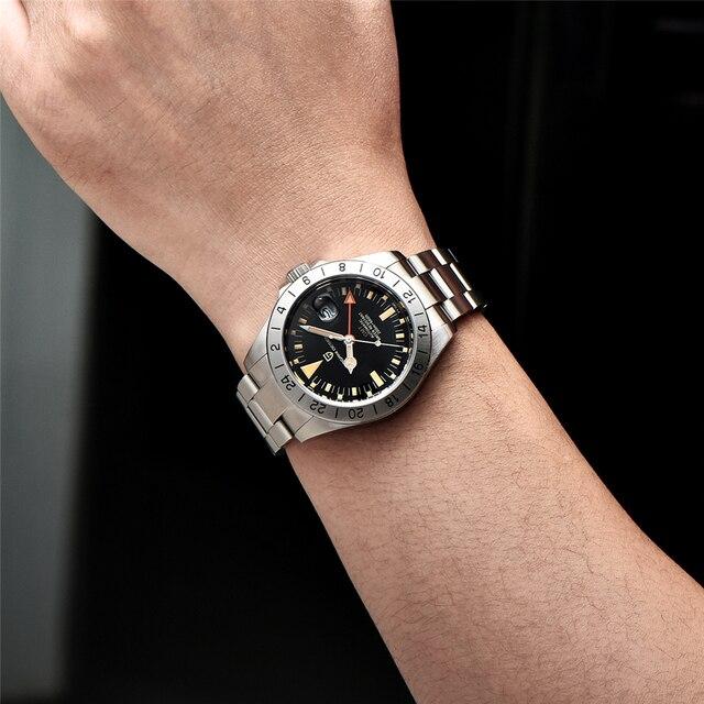 2021 New PAGANI DESIGN Men Automatic Mechanical Watch Classic Retro GMT Watch Stainless Steel 200m Waterproof Clock Reloj Hombre 5