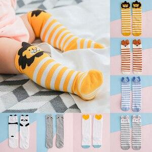 Хлопковые носки для новорожденных девочек носки средней длины с героями мультфильмов для маленьких мальчиков свободные носки детские гетр...