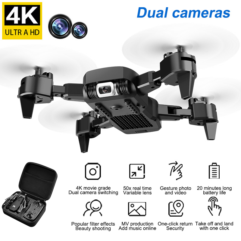 New RC Drone With 4K HD Camera Optical Flow Positioning Dual Camera WIFI FPV Foldable Quadcopter Helicopter Drones Follow Me