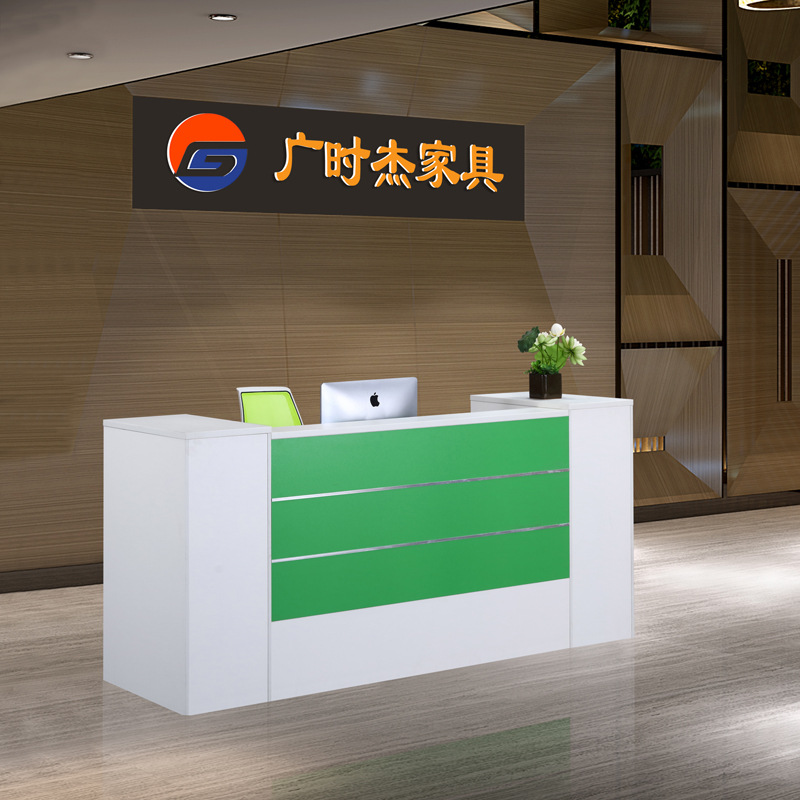 Guangzhou Office Furniture Modern Style Company Front Desk Hospital Hotel Welcome Consulting Reception Bar Counter Cashier Desk