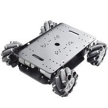 Nouveau 5KG charge Double châssis Mecanum roue Robot voiture châssis Kit avec 4 pièces 12V codeur moteur pour Arduino framboise Pi bricolage tige