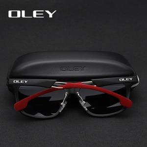 Image 3 - OLEY Neue Aluminium Magnesium Polarisierte Männer Sonnenbrille Erweiterbar hohl bein spezielle anti slip design Anpassbare logo Y7144