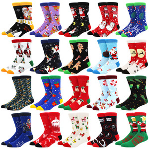 Christmas Tree Snow Elk Gift Cotton Happy Men Socks New 2020 Autumn Winter Christmas woman Socks Funny New Year Santa Claus