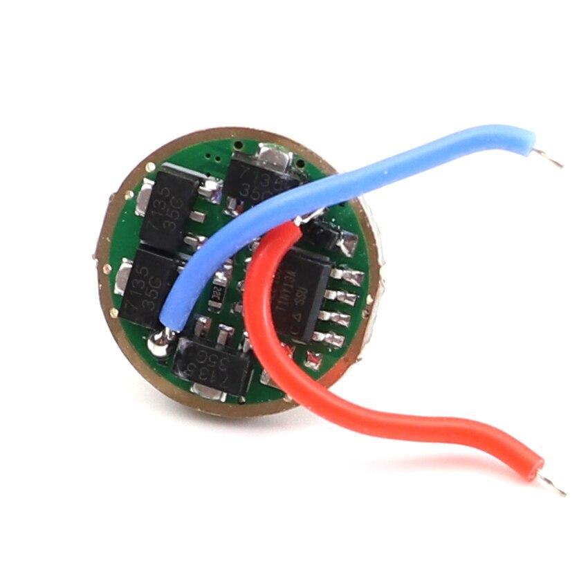 17mm AMC7135 x 12x10x8x3 pilote 2 groupe 8 mode 3 / 5 modes 7135 puces lampe de poche lecteur carte Mode mémoire Anti-inverse