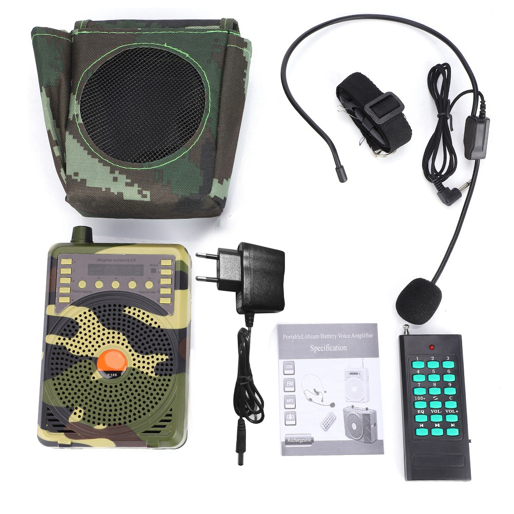 48W Portable Electronic Bird Caller Hunting Decoy Remote Control MP3 Hunting Speaker  Kit Hunting Decoy Accessories
