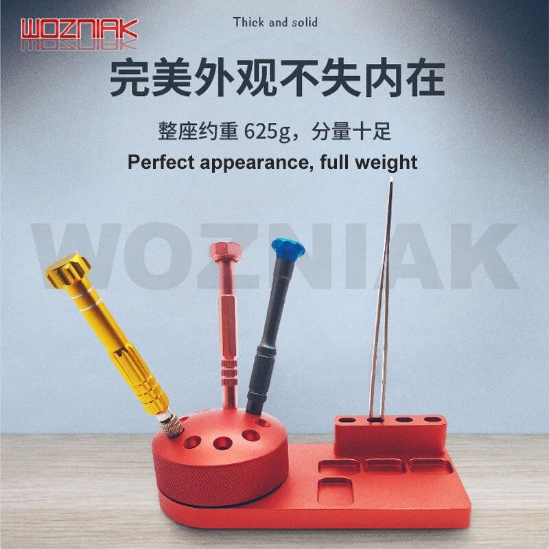 WOZNIAK Magnetic Rotating Tools Receiving Box Aluminium Alloy Tweezers Bolt Driver Screw Storage Rack