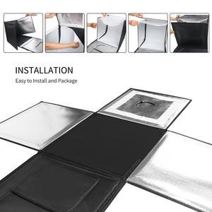 Image 3 - Caja de luz LED plegable para estudio fotográfico, 40x40cm, 15,5 pulgadas, fondo blanco, verde, negro, caja de accesorios