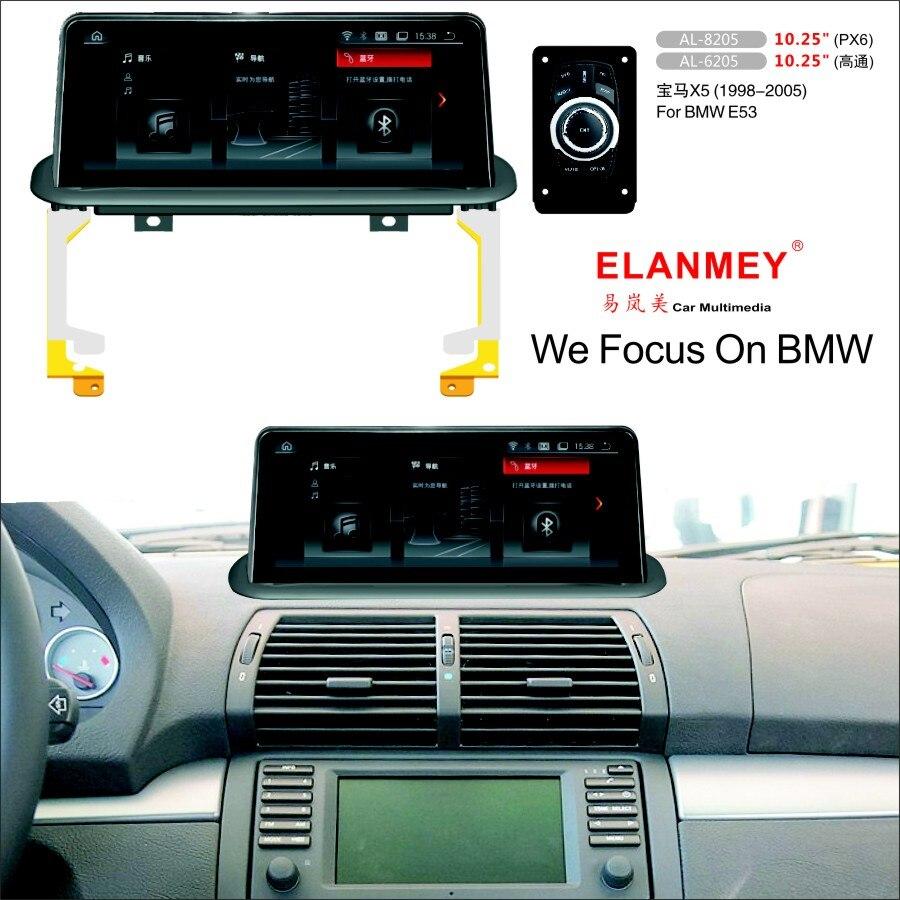 Elanmey voiture multimédia pour BMW X5 E53 1999-2006 unité principale Android 9.0 grand écran caméra de recul auto radio navigation GPS
