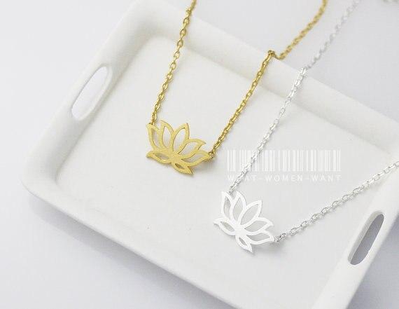 minúsculo buda flor lotos pétala pingente colar