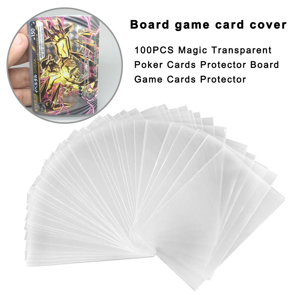 100PCS Card Sleeves Protector For Magical Gathering Party Desk Games Magic Transparent Poker Cards Board Game Case Protector