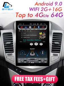 Radio-Player Navigation Multimedia Vertical-Screen Chevrolet Cruze Android Stereo In-Dash