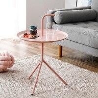 Northern European Style Baking Varnish Iron Art Small Teapoy Table Metal Circle Side Table Corner Table Mini Designer Creative H