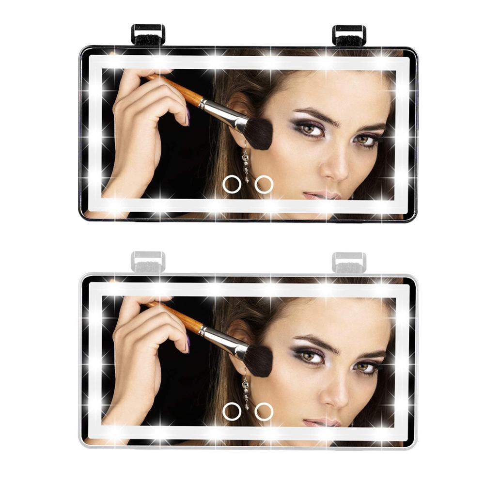 Универсальное автомобильное светодиодное зеркало для макияжа, внутреннее зеркало, сенсорный переключатель, зеркало для макияжа, 3 режима о...