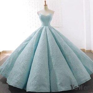 Image 4 - V boyun mavi dantel tül abiye 2020 uzun artı boyutu düğün parti elbise balo resmi elbise zarif balo elbisesi