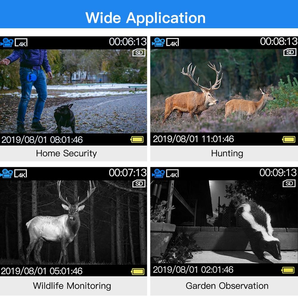 BOBLOV 20MP 1080P chasse caméra 0.2s déclencheur faune caméra Scouting sécurité chasse Trail caméras IP66 4K Photo piège extérieur - 6