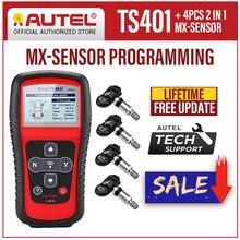 Autel herramienta de diagnóstico MaxiTPMS TS401 TPMS, 433MHz, 315MHz, Sensor MX, lectura de presión de neumáticos, activación de diagnóstico, herramienta de programación TPMS