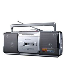 パンダ6610テープレコーダーラジオ小型デュアルスピーカーテープ英語学ぶしたがってplaye 2バンドラジオ