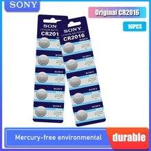 10 pçs nova marca sony cr2016 botão celular bateria 3v baterias de lítio cr 2016 para relógio de brinquedo remoto controle calculadora computador
