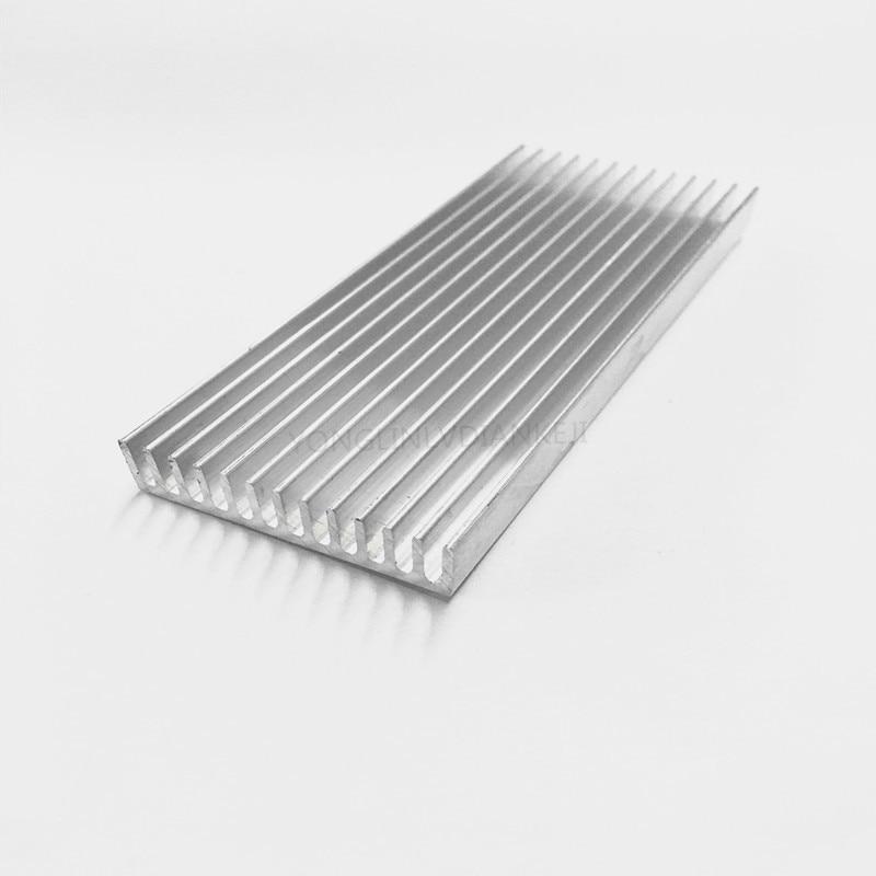 Silver + Gold 150mm x 60mm x 18mm Aluminium Radiator Heatsink Fin for Chipset High Power LED IC Cooling 2pcs