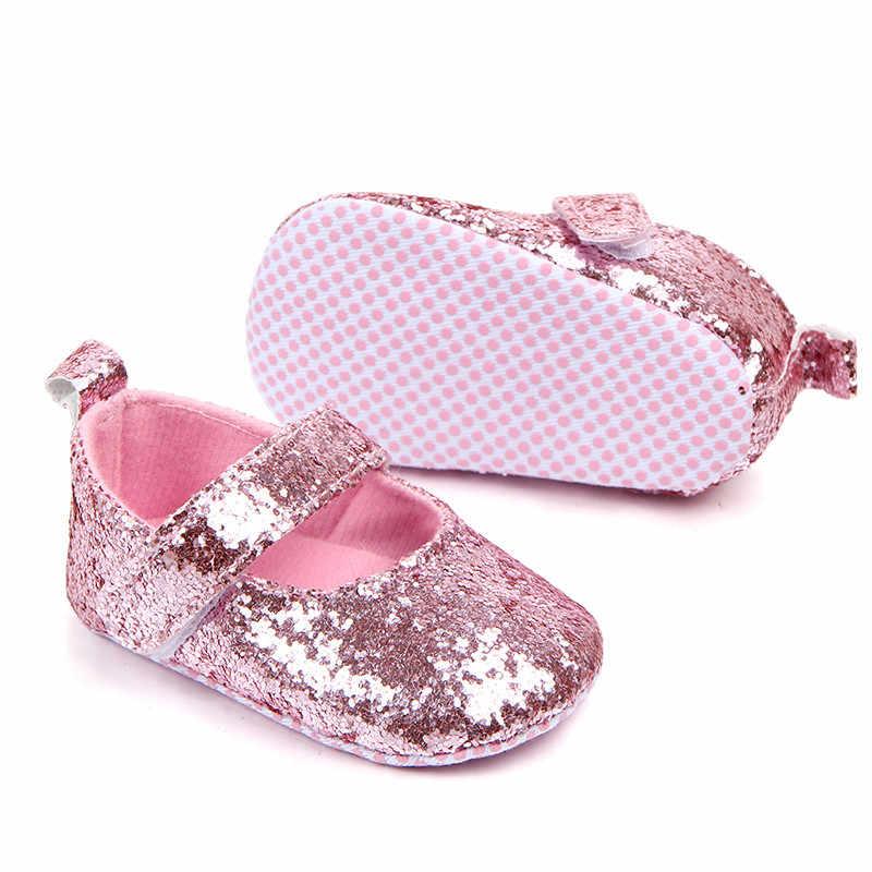 Dziewczynka chłopiec buty moda wygodne miękkie podeszwy szopka buty cekiny Sneaker dziecko dorywczo proste buty обувь для новорожденных