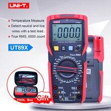 رقمي متعدد UNI T UT89X ؛ التيار المتناالتيار تيار مستمر الجهد الحالي متر ؛ مقياس التيار الكهربائي الفولتميتر المقاومة جهاز قياس درجة الحرارة ؛ NCV/اختبار الأسلاك الحية