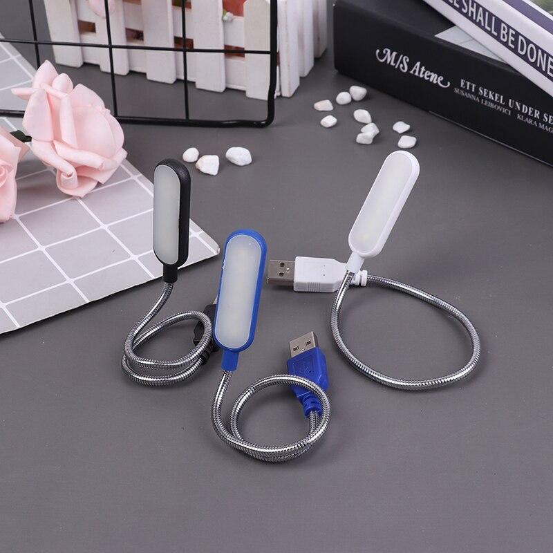 1 шт. Портативный USB светодиодный мини-светильник для книг, светильник для чтения, настольная лампа, Гибкая 6 светодиодов USB лампа для портати...