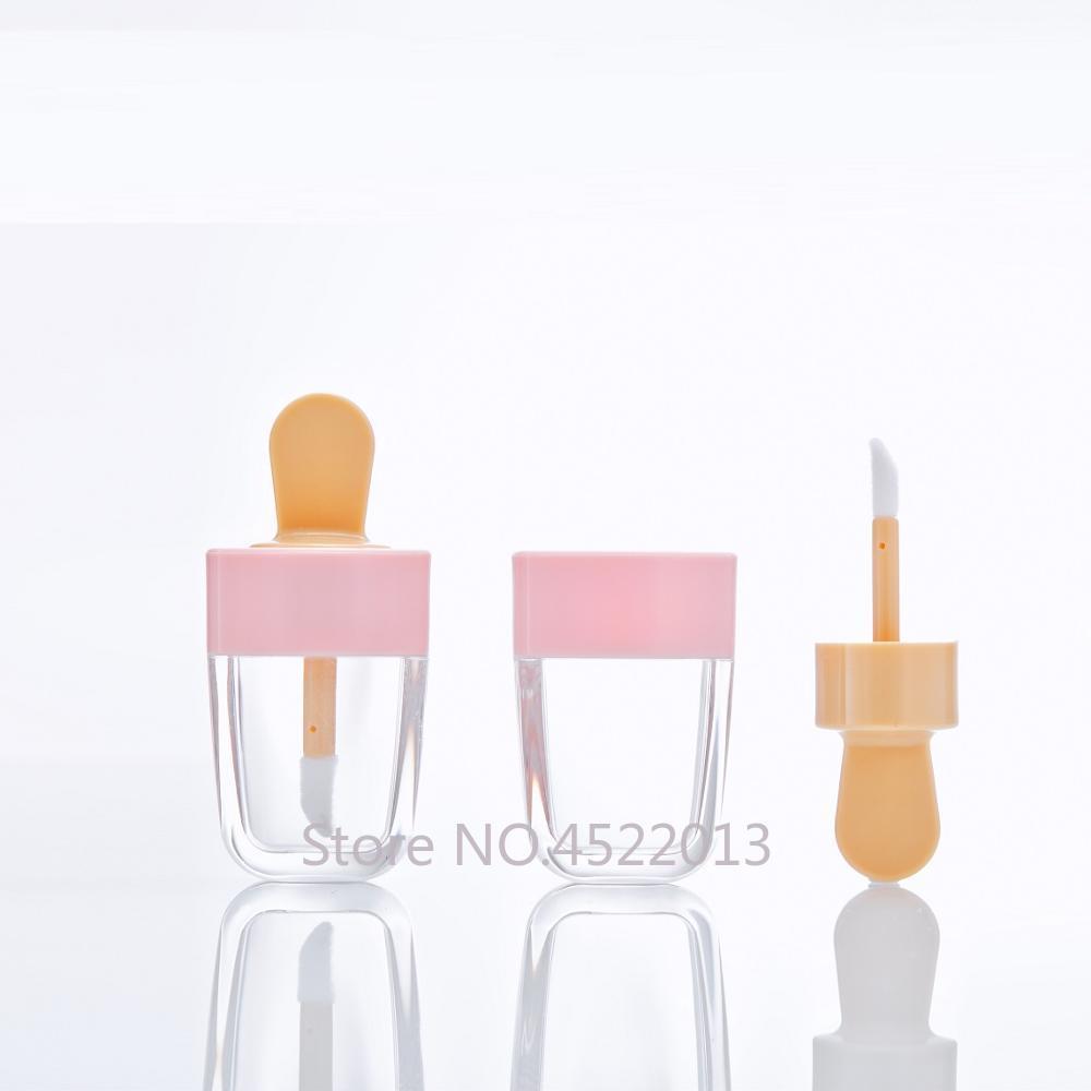 10/30/50pcs Lip Gloss Bottle Lip Glaze Tube Empty Pink Ice Cream Lipgloss Tube Packaging Material Makeup DIY Lip Glaze