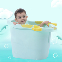 Thicken Kids Bath Tub Seat Intelligent LCD Display Temperature Newborn Shower Tub Baby Products Toddler Infant Children's Tub