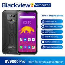 Blackview BV9800 Pro Android 9.0 World 1st Thermal imaging Smartphone Rugged Helio P70 OctaCore 6GB+128GB 48MP Wireless Charging