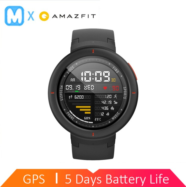 Amazfit Phone-Call Watch BATTERY English-Version IP68 Smart-3 Sport 5-DAY