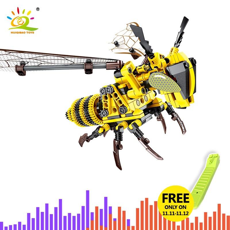 236PCS Technic DIY Insect Bee Model Building Blocks Legoing Technic Brick Garage Kits Educational Toys For Children