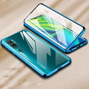 Podwójne szkło odporne na wstrząsy etui na telefony dla Xiaomi Redmi uwaga 8 Pro 7 Mi 9 T Mi 8 Mi9 SE Mi uwaga 10 szkło hartowane magnes pokrywa