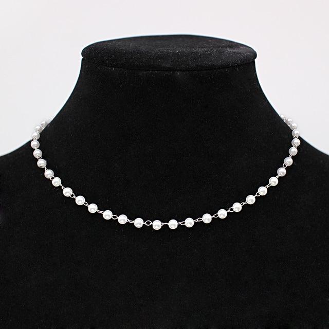 Pearl choker necklace or bracelet 5