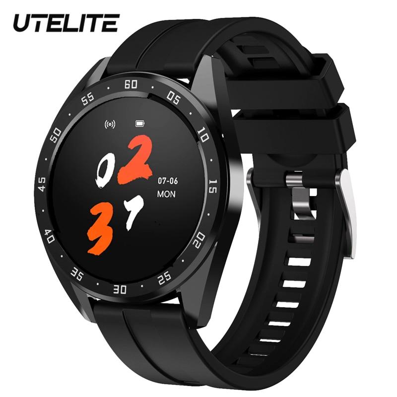 Смарт-часы UTELITE для мужчин и женщин, 1,3 дюйма, экран IP67, водонепроницаемость, пульсометр, фитнес-трекер, спортивные часы для huawei Xiaomi