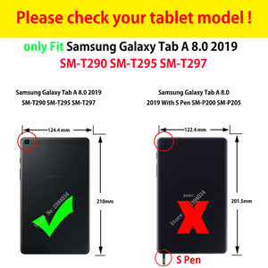 Image 2 - Case For samsung galaxy tab A 8.0 2019 SM T290 SM T295 T290 T295 T297 Cover Funda Shockproof Heavy Duty With Wrist Straps