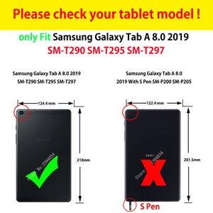 Image 2 - מקרה עבור samsung galaxy tab 8.0 2019 SM T290 SM T295 T290 T295 T297 כיסוי אופן בסיסי עמיד הלם כבד החובה עם יד רצועות
