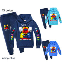Among us children casual suit Spring and Autumn Long Sleeve printed Hoodie Set teenager outdoors Sportswear 2-piece set 2-16Y