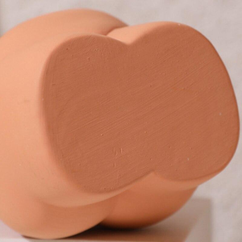 Nordic керамика искусство тело ваза рабочий стол украшения телесный абстракция цветок горшок сушеный цветок композиция растение горшок дом украшение