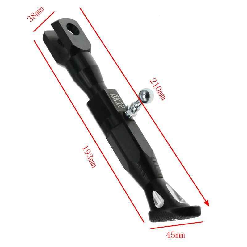 Lmodri Xe Máy Có Thể Điều Chỉnh Chiều Cao 21-25 Cm Kickstands Xe Máy Đổi Chân Giá Đỡ CNC Nhôm Hợp Kim Mặt Đứng
