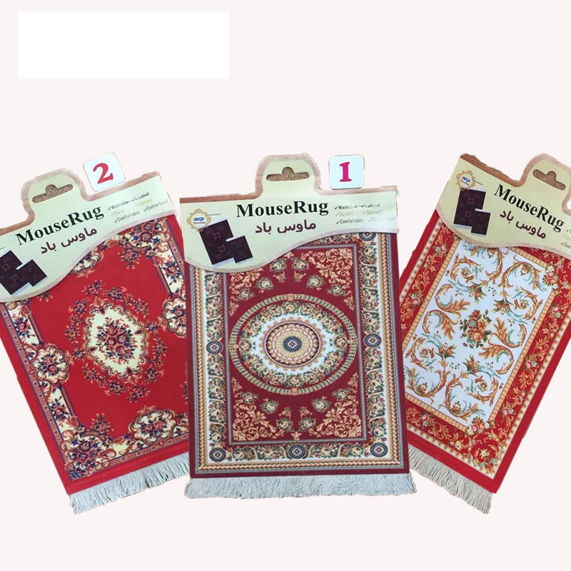 Mairuige 28x18cm Persian Rug Mat Mousepad Retro Style Carpet Pattern Table Cup Mouse Pad Red For CSGO LOL DOTA Speed Play