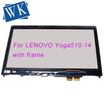 14'' Touch Screen Glass Digitizer Panel Glass Lens For Lenovo YOGA 510-14ISK 80S with frame