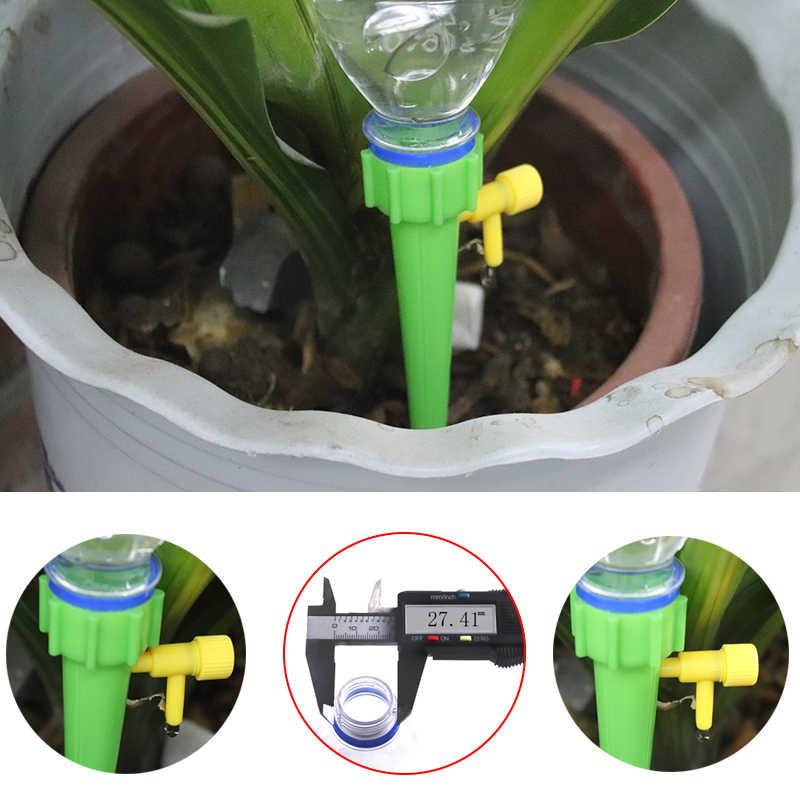 Auto Irigasi Tetes Penyiraman Sistem Otomatis Penyiraman Spike untuk Tanaman Bunga Rumah Tangga Dalam Ruangan Waterers Botol Menetes Perangkat