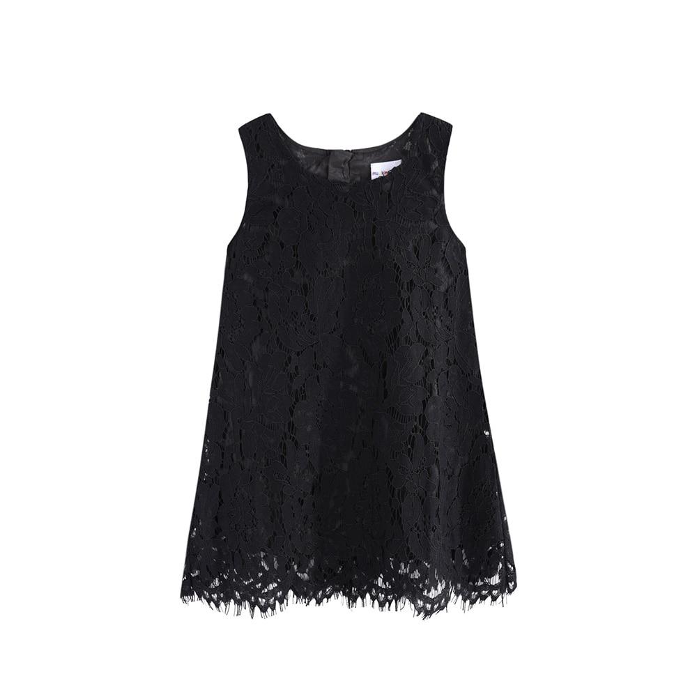 LittleSpring Little Girls Lace Dress Holiday Dress Sleeveless