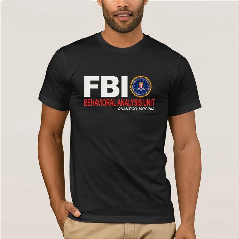 Men's Cool Sleeve T-Shirt Top Quality Men FBI Body Inspector letter Fashion Unique Classic Cotton Men T Shirt