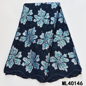 BEAUTIFICAL african organza fabrics embroidery sequins organza lace fabric for dress Hot sale nigerian organza fabric ML4O146