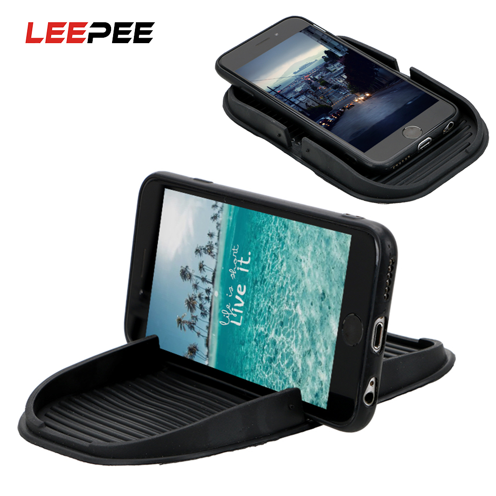 LEEPEE Car Dashboard Cell Phone Holder Storage Mat for Keys GPS Display Bracket Interior Accessories Multifunction Car-stylnig