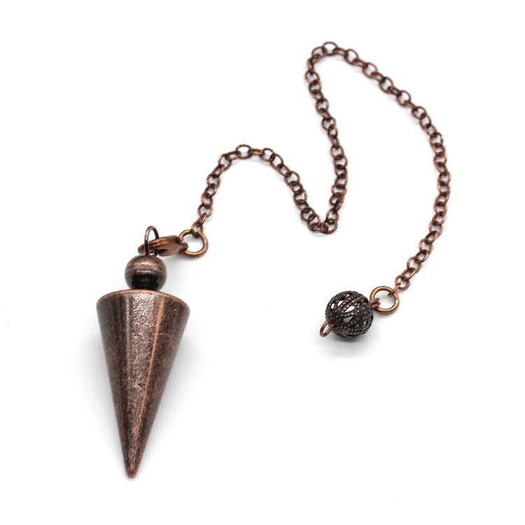 Metal Pendulums for Dowsing Divination Reiki Healing Spiritual Wicca Women Men Amulet Screw Shape Pendule Chains Charm Jewelry 10