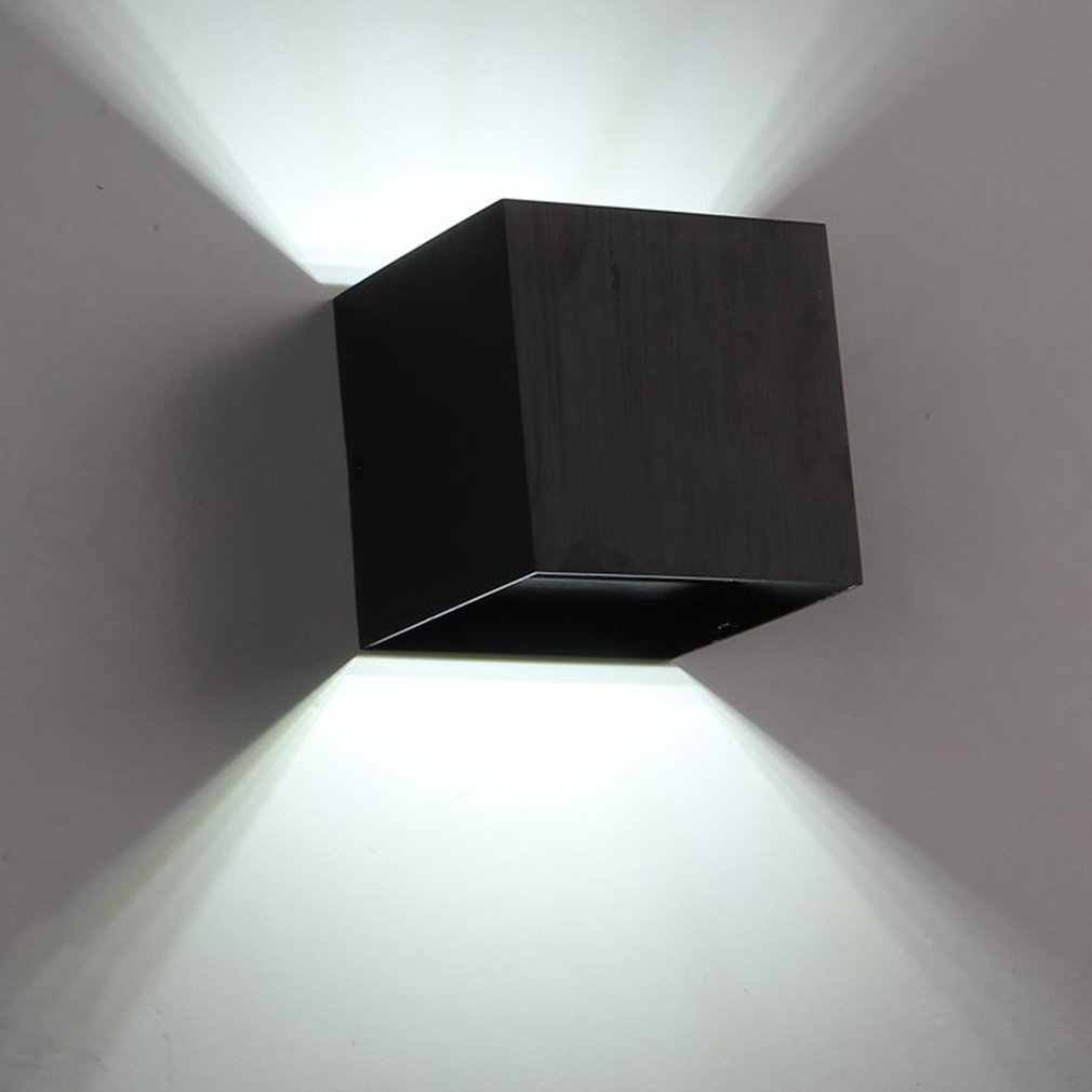 7W Led Cube Lampu Dinding Tahan Air Outdoor Aluminium Ringan Up & Down Light Adjustable Sudut Indoor Outdoor Lampu Dinding