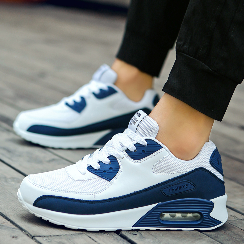 Women Men Sneakers Air Cushioning Running Shoes Breathable Mesh Height Increase Sport Shoes Lover Trainers Light Jogging 2019